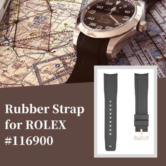ラバーベルト:ロレックス エアキング 40mm用(6桁品番用 116900等)