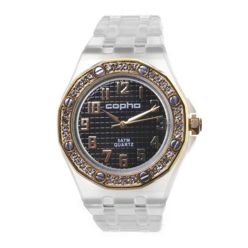 COPHA LADY AP Polycarbonate Bracelet Black-Gold(コプハ レディエーピー ポリカーボネート ブレスレット ブラック-ゴールド)