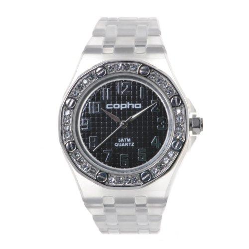 COPHA LADY AP Polycarbonate Bracelet Black-Silver(コプハ レディエーピー ポリカーボネート ブレスレット ブラック-シルバー)