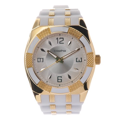 <img class='new_mark_img1' src='https://img.shop-pro.jp/img/new/icons20.gif' style='border:none;display:inline;margin:0px;padding:0px;width:auto;' />COPHA METRO Silicone Strap Silver-Gold×White(コプハ メトロ シリコンストラップ シルバーゴールド×ホワイト)