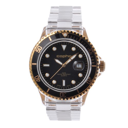 <img class='new_mark_img1' src='https://img.shop-pro.jp/img/new/icons20.gif' style='border:none;display:inline;margin:0px;padding:0px;width:auto;' />COPHA BRX Polycarbonate Bracelet Black-Gold(コプハ ビーアールエックス ポリカーボネートブレスレット ブラック-ゴールド)