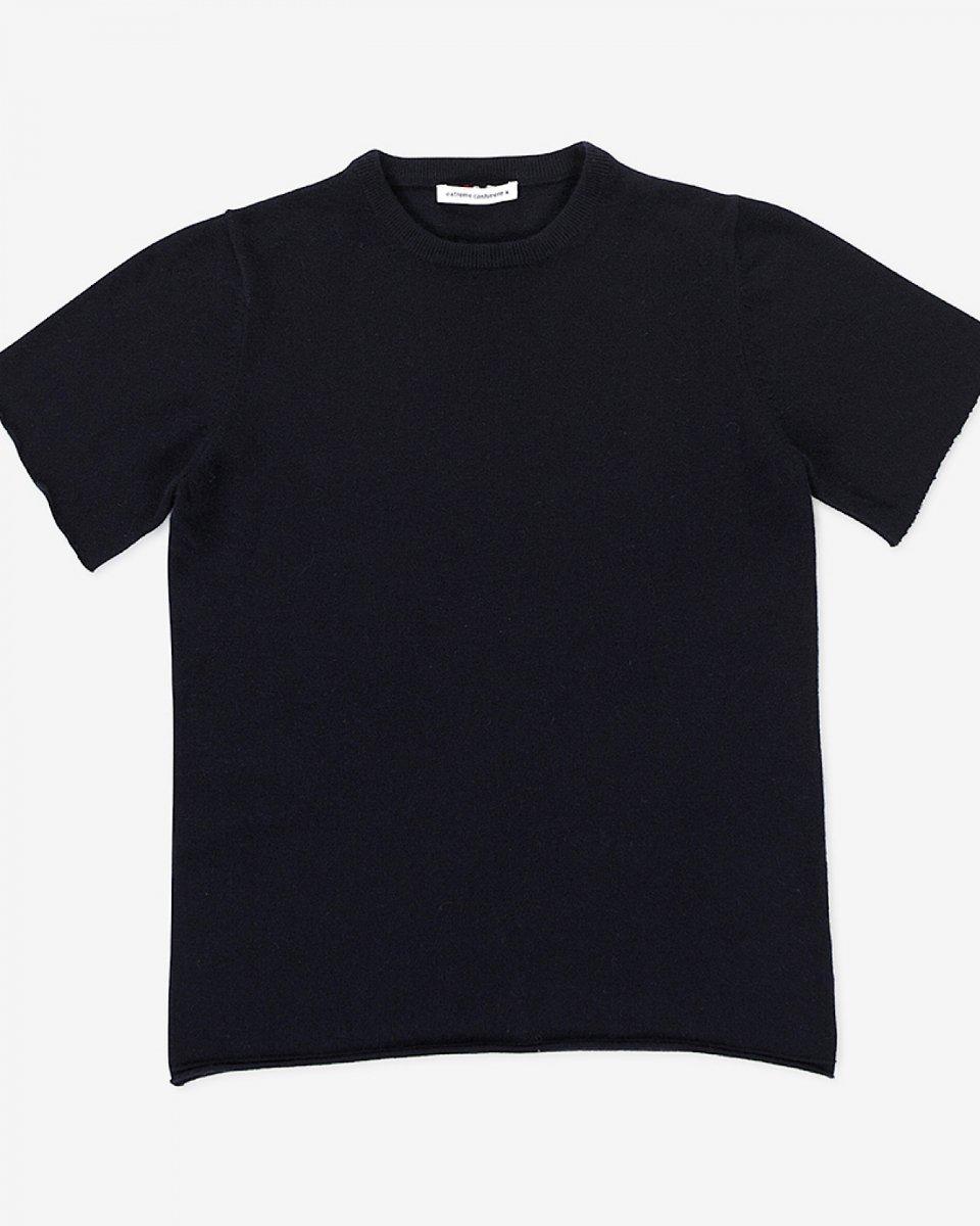 再入荷!カシミアTシャツ ネイビー - ¥35,000