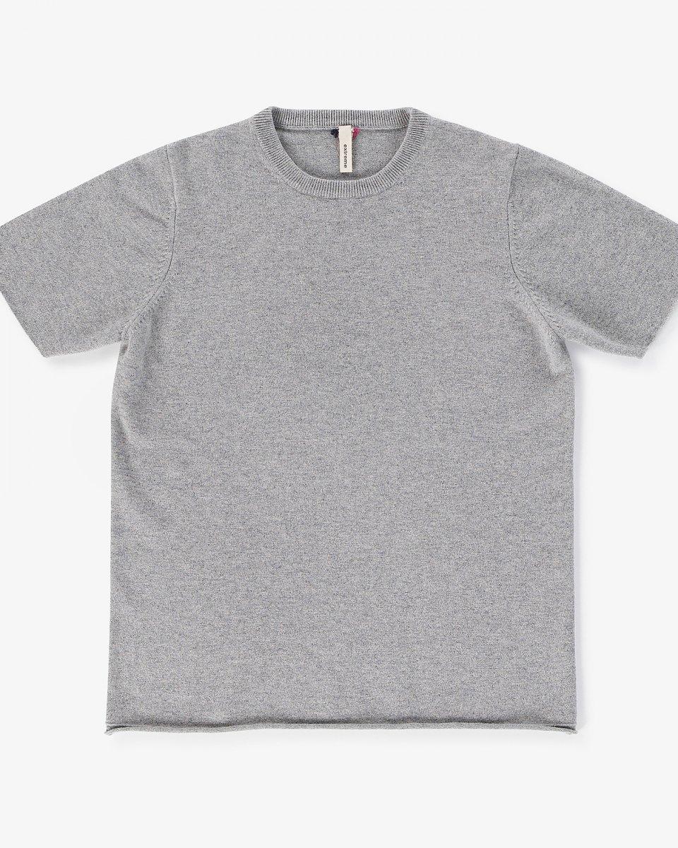 カシミアTシャツ ライトグレー - ¥35,000