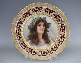 オーストリア ヴィエナ 女性紋 24cm プレート