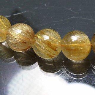 天然石 ルチルクォーツ 7.5mm ブレスレット rut07.5001