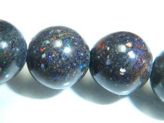 天然石 ブラックオパール 6mm ブレスレット opa06003b