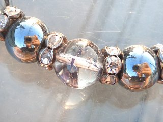 天然石 クラック水晶とヘマタイトの ブレスレット ori10001