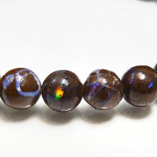 天然石 遊色効果 ボルダーオパール 6mm ブレスレット opa06002bor