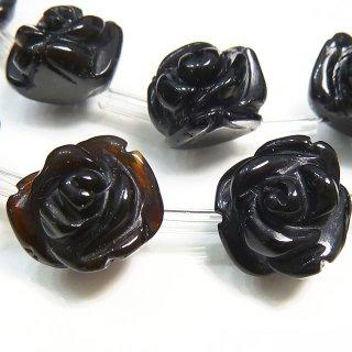 【1粒売り】 オニキス 薔薇 L 12-14mm oni_rose_L_0