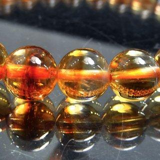 天然石 バイカラーシトリン 7.5mm ブレスレット cit07.5001