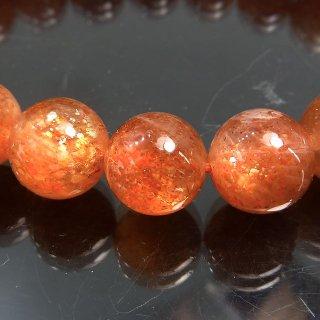 天然石 マイカサンストーン 9.5mm ブレスレット sun09.5001m