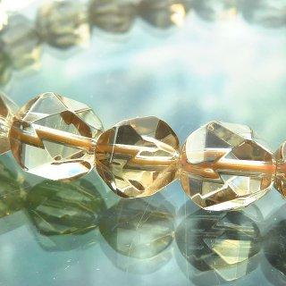 天然石 レモンクォーツ 多面カット 8mm ブレスレット lem08001