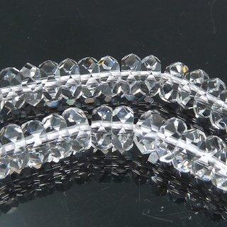 【5粒売り】 クリスタル 水晶 ボタンカット (M) 5x2mm qua_but_M_0
