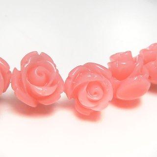 【1粒売り】 レジンストーン 薔薇 ピンクオパール色� S 8mm art_rose_8_p