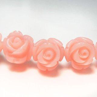 【1粒売り】 レジンストーン 薔薇 ペールピンク S 8mm art_rose_8_pp