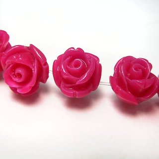 【1粒売り】 レジンストーン 薔薇 ルビーレッド S 8mm art_rose_8_rr