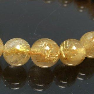 天然石 ルチルクォーツ 7.5mm ブレスレット rut07.5002