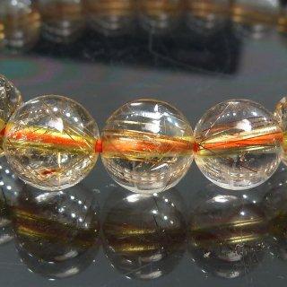 天然石 高透明度ブロンズルチルクォーツ 8mm ブレスレット rut08003