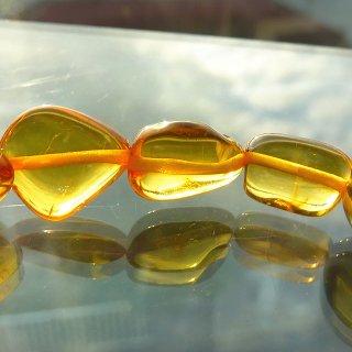 天然琥珀 ハニーアンバー タンブル 10-13mm ブレスレット amb12001h