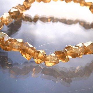 天然石 ダイヤモンドクリスタル ゴールドオーラ ブレスレット dia05001