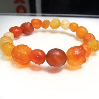 希少石 いちごと果実のカクテル ゴビアゲート ブレスレット aga10003g