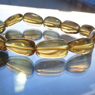 天然石 宝石質ビアクォーツ 12〜15mm ブレスレット ber15001