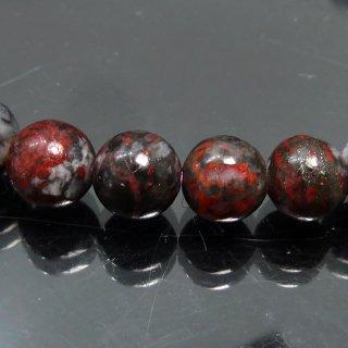 天然石 ブラックシナバークォーツ 辰砂 7mm ブレスレット shi07001