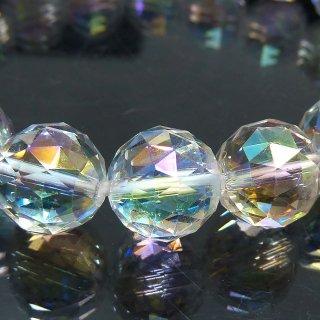 天然石 アクアオーラ スターカット 10mm ブレスレット aur10001st