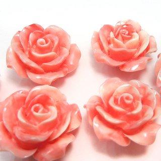 【1粒売り】レジンストーン 薔薇 マーブルピンク 20mm art_rose_20_pw