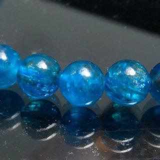 天然石 ネオンブルーアパタイト 5.5-6mm ブレスレット apa05.5001n