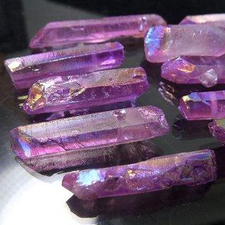 【1粒売り】水晶原石 ポイント オーロラパープル わけあり cry_pt_w_opa
