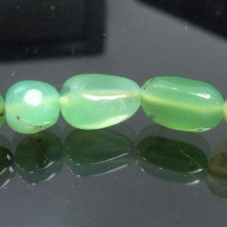天然石 クリソプレーズ タンブル ブレスレット chr08001t