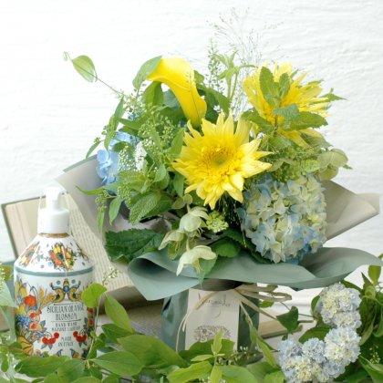 ハンドソープ(シチリアンオレンジブロッサム)&立つ花束セット(レモンイエロー)