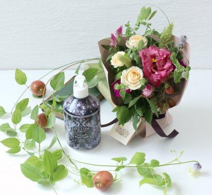 【敬老の日】イタリアンハンドソープ(ローズ)& 立つ花束S
