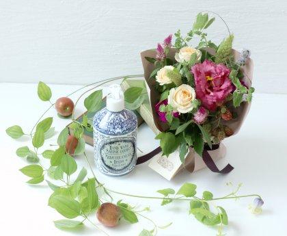 【敬老の日】イタリアンハンドソープ(ハーブ)& 立つ花束S