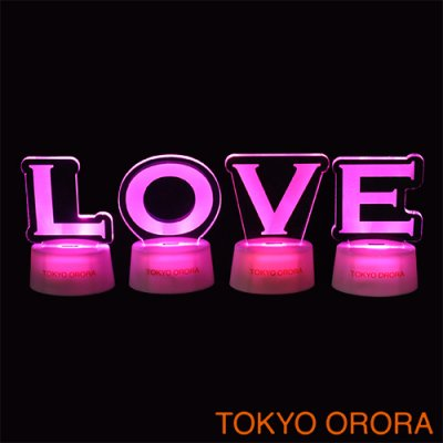 アルファベットスタンドセット「LOVE」