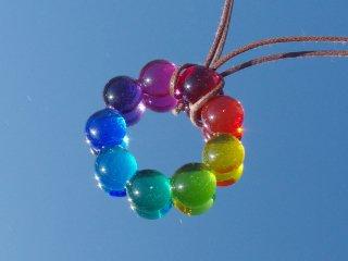 虹色ガラス『りーす【虹】』ネックレス【受注制作】