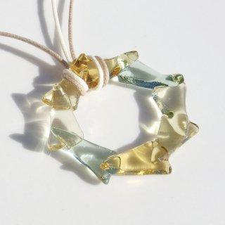 ガラスの冠『クラウン【ミモザ】』ネックレス【受注制作】