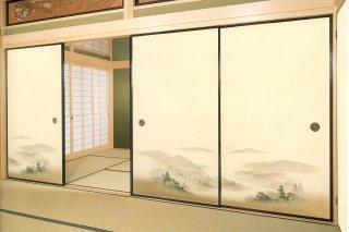 【襖紙】ちとせ201(2枚柄・山水画)