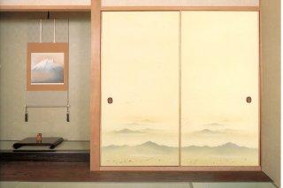 【襖紙】ちとせ207(1枚柄・山・連峰)