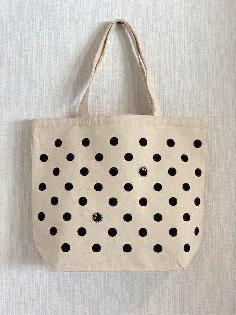 まっくろくろすけ刺繍トートバッグ (大)