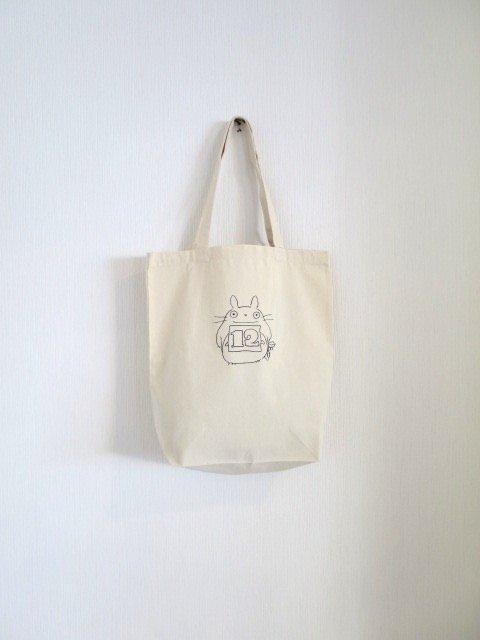 誕生月トトロとくろすけスタンプのトートバッグ (12月)
