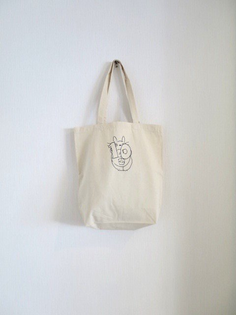 誕生月トトロとくろすけスタンプのトートバッグ (10月)