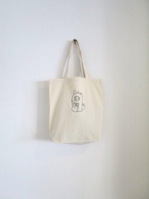 誕生月トトロとくろすけスタンプのトートバッグ (9月)