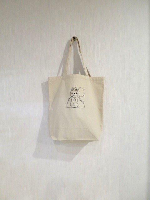 誕生月トトロとくろすけスタンプのトートバッグ (8月)
