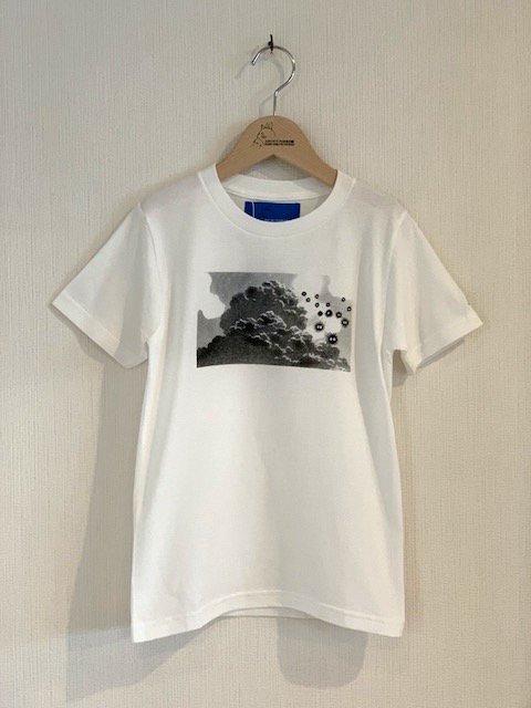 くろすけスタンプTシャツ/大移動 (ホワイト・小人)
