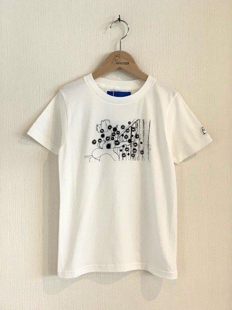 くろすけスタンプTシャツ/メイ (ホワイト・小人)
