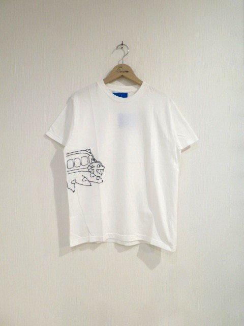 バックステッチTシャツ (ネコバス・大人)