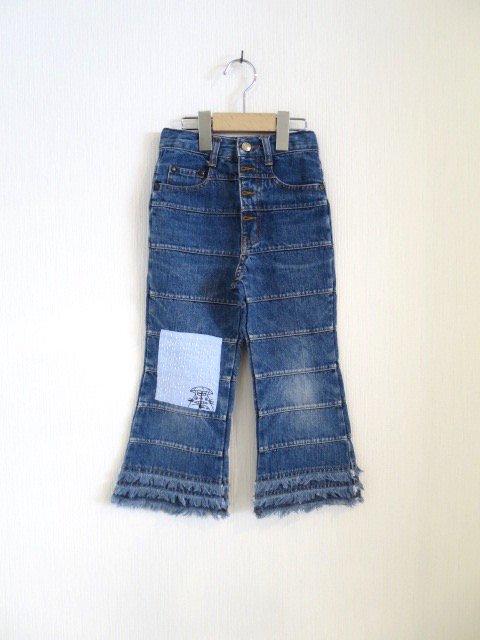 トトロ手刺繍パンツ (1点もの/サイズ110)