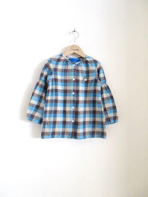 トトロ手刺繍ノーカラーシャツ (1点もの)